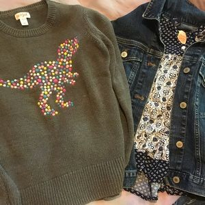 Lot of girls long sleeve, sweater, Jean jacket